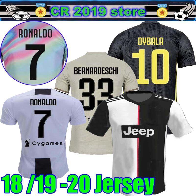 d6335ac2b 2019 Juventus 2019 20 Home RONALDO JUVENTUS Soccer Jerseys 2019 BUFFON  DYBALA MANDZUKIC19 20 Home Away Third Men Youth Football Shirt From Cr2019