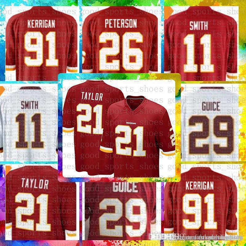 63002dc94 Top Sale 11 Alex Smith Washington Redskins Jersey 29 Derrius Guice ...