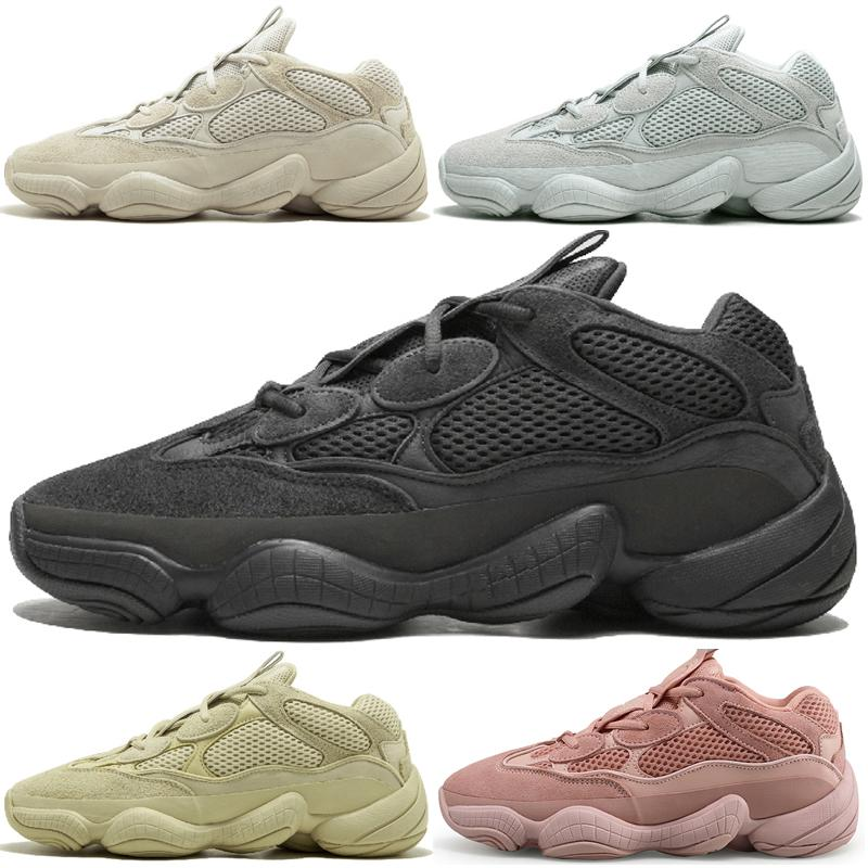 ec76335db Kanye West 500 Desert Rat Blush 500s Salt Super Moon Yellow Utility Black  Mens Casual Running Shoes For Men Women Sports Sneakers Trainers Waterproof  ...