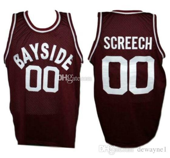 buy popular f8b0f a0215 Saved By The Bell Screech #00 Bayside Tigers Retro Basketball Jersey Men s  Stitched Custom Any Number Name Jerseys