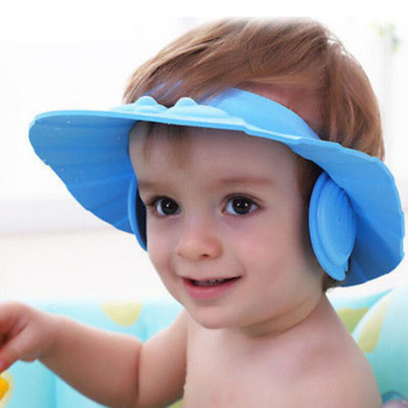 a3050f36a22 Baby Shower Cap Soft Adjustable Protect Children Kid Shampoo Bath Wash Hair  Shield Hat Waterproof Prevent Water Into Ear Shampoo Cap Cheap Shampoo Cap  Baby ...