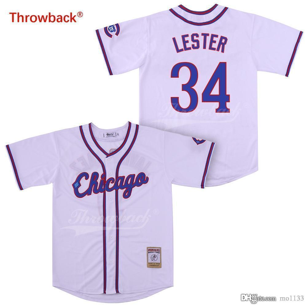hot sales dc654 be1e9 Throwback Jersey Men's Chicago Lester Jerseys Baseball Jersey Shirt  Wholesale Stiched Cheap Various Colors