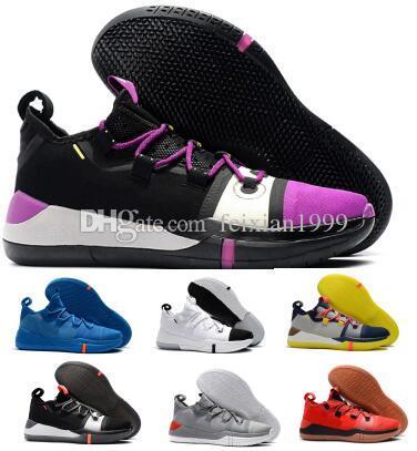 new style 6eed6 8409e Großhandel Man Kobe Basketball Schuhe Turnschuhe Herren AD EP Mamba Tag  Segel Lila Zehe Exodus 2019 Designer Luxus Tennis Trainer Korb Ball Schuhe  Von ...