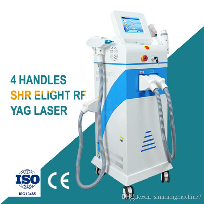 2019 Professional 4 in 1 OPT SHR/RF/ND/Yag Laser Beauty Machine Laser Hair Removal Equipment Hair Removal Laser Machine Tattoos Equipment