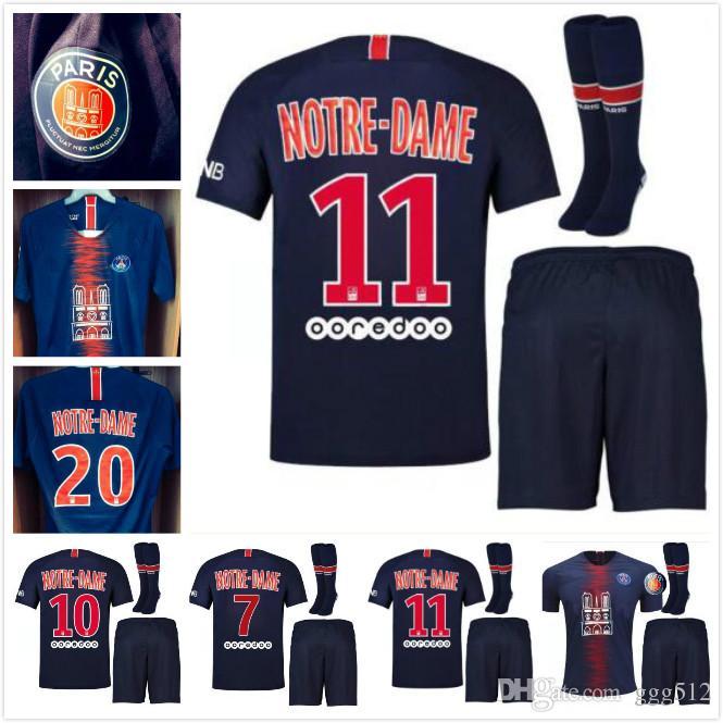 detailed look c1d35 b80bd 18 19 Psg CAVANI DI MARIA soccer jersey 2018-2019 Adult kit Paris Notre  Dame MBAPPE NEYMARJR Football jerseys 18 19 psg football shirt kit