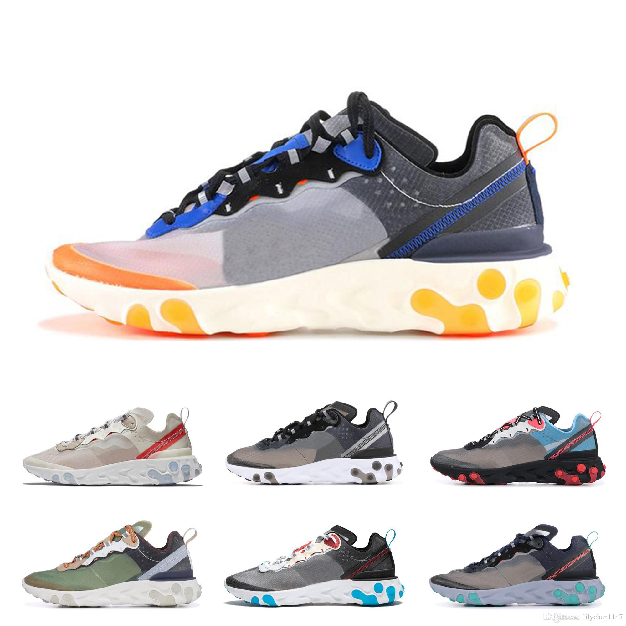 3ff2a0863ad Epic React Element 87 Mens Designer Running Shoes 2019 Women Casual Air  Trainers Outdoor Best Dress Hiking Breathable Sports Sneakers Track Shoes  Best ...