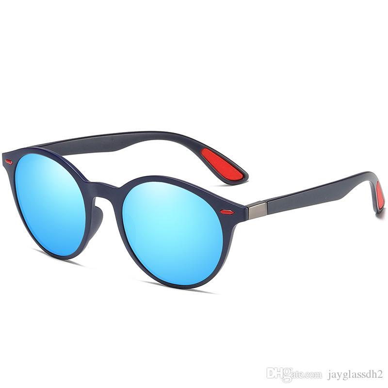 a3c9f6f99 Compre Homens De Moda De Nova Rodada Óculos De Sol Polarizados Marca Design  Tr90 Óculos De Sol De Alta Qualidade Mulheres Homens Óculos De Condução  Uv400 De ...