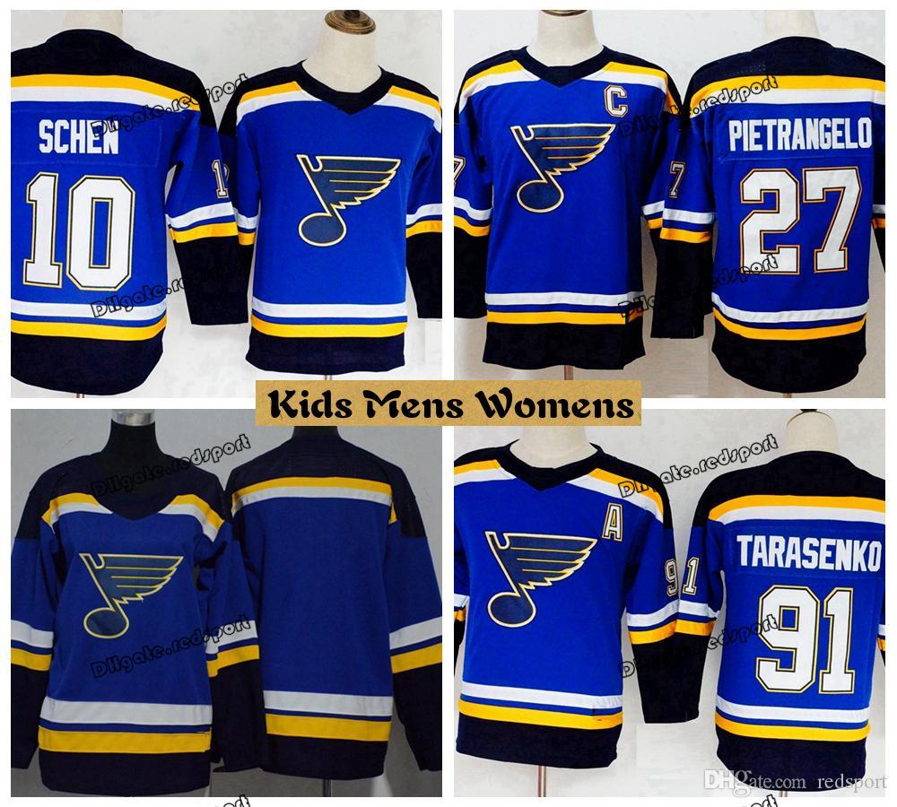 size 40 b07d9 2e80a 2019 Youth St. Louis Blues Hockey Jerseys 91 Vladimir Tarasenko 10 Brayden  Schenn 27 Alex Pietrangelo Girls Kids Womens Boys Stitched Shirts