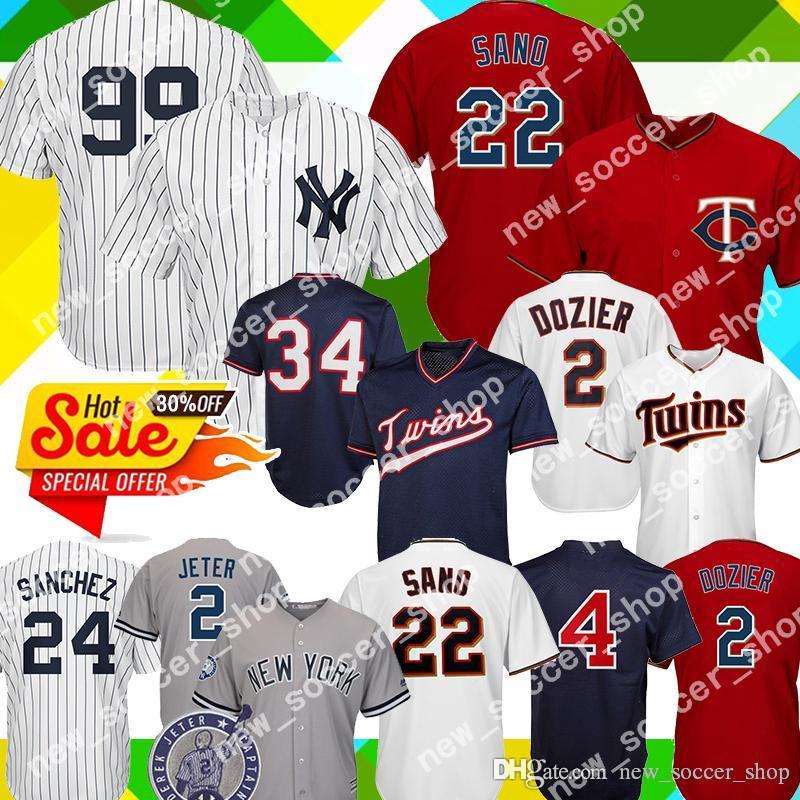 quality design f6009 ad592 99 Aaron Judge Yankees Jersey 2 Derek Jeter 27 Stanton 25 Torres Minnesota  22 Miguel Sano Twins 4 Molitor 2 Dozier 34 Puckett