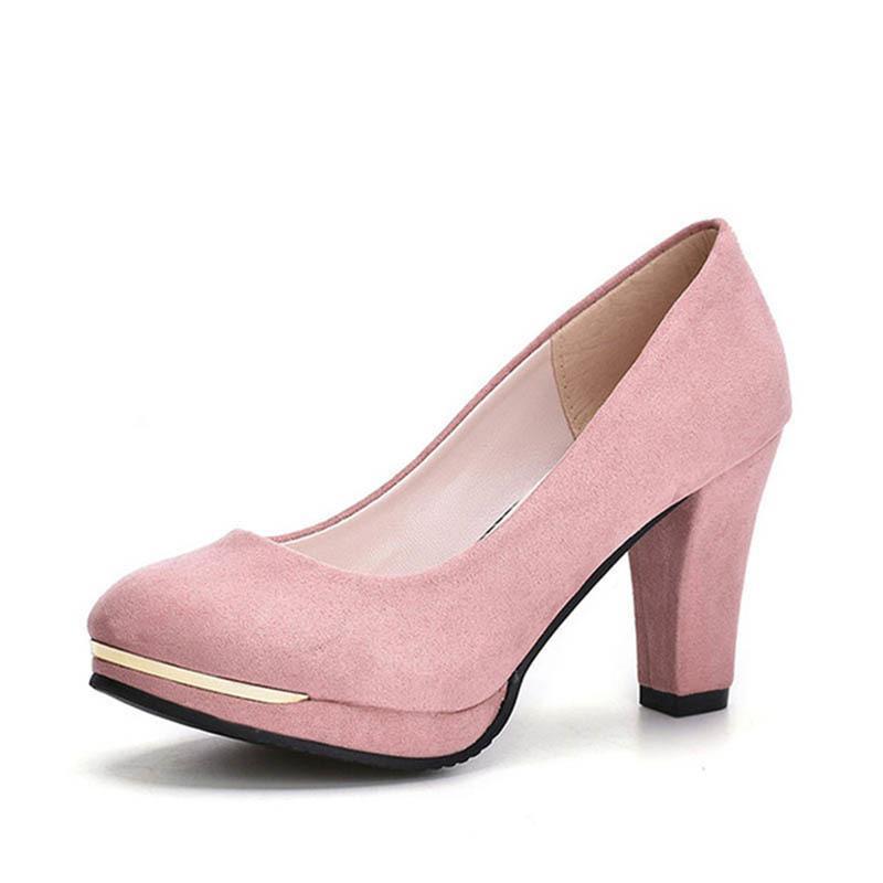2a4956a45 Compre Zhenzhou 2019 Primavera E No Outono Das Mulheres De Moda De Nova  Tendência Liderança Cabeça Redonda E Sapato Único À Prova D 'Água Das  Mulheres ...