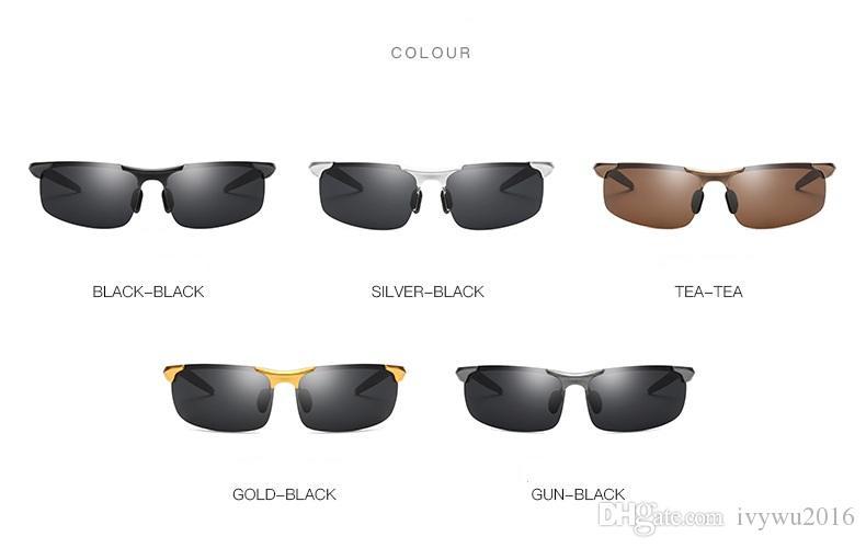 5d56066d4d Compre Nueva Llegada 2019 Gafas De Sol De Marca De Lujo Para Hombres Medio  Marco Gafas De Sol Al Aire Libre Gafas De Conducción Envío Gratis A $20.31  Del ...