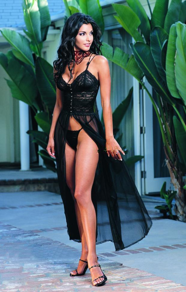cd13ce10b1e Sexy Lingerie for Women Gorgeous Black White Lace And Mesh Halter V ...