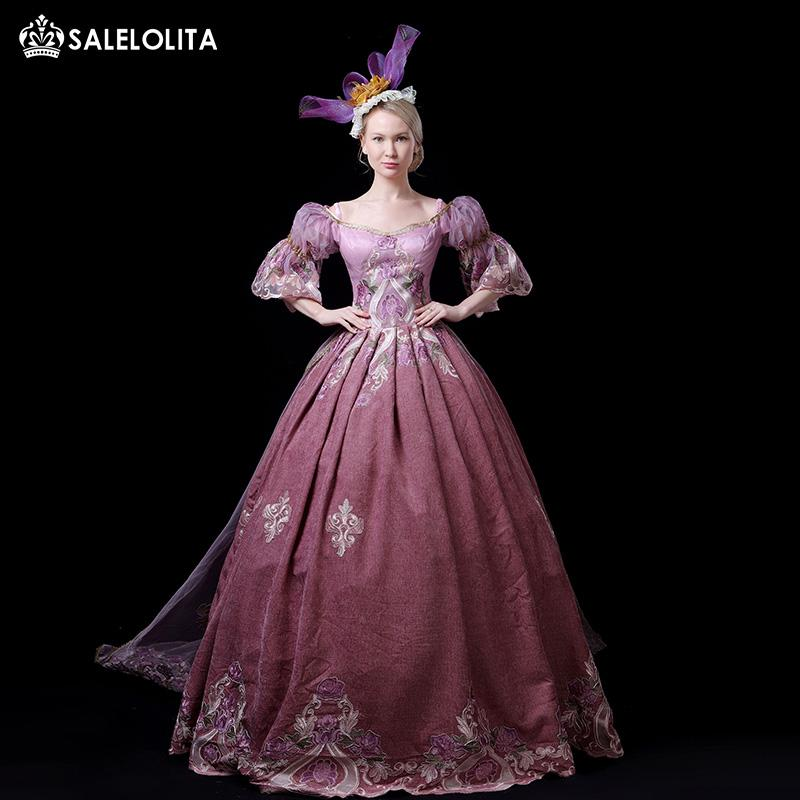 Hot Sale Pink Victorian Princess Fairytale Bridesmaid Fancy Dress Rococo Marie Antoinette Ball Gown Theatrical Costume