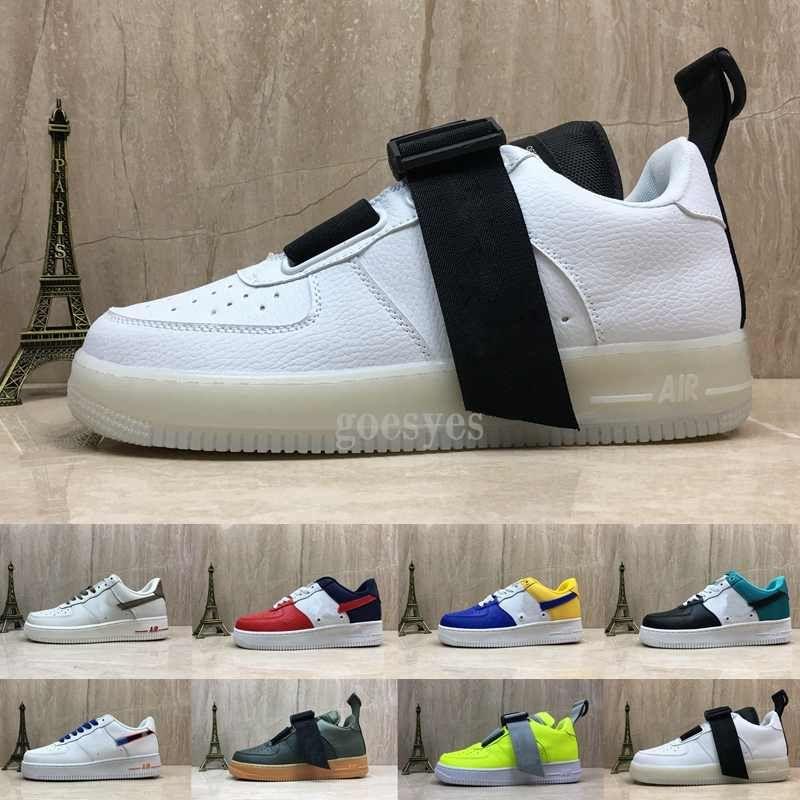 more photos 4d783 91937 Acheter Nike Air Forces 1 Nouveau Chaussures 07 LV8 Utilitaire Premium ID  One Running Skateboard Chaussures Pour Hommes Air Entraîneurs Forces  Sportives 1 ...