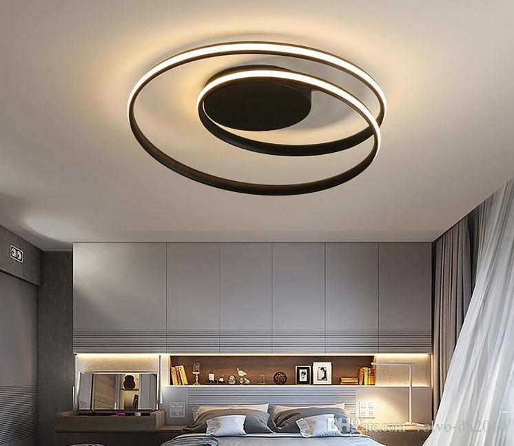 2019 Modern Chandelier Lighting Led For Living Bedroom Living Room Home  Decor Light With Remote Control White Black Chandeliers LLFA From Volvo  Dh2010, ...