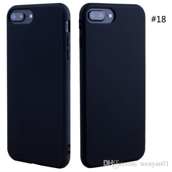 Pour iPhone X Mobile Téléphone Shell Case Mat Mat Givré Soft Cases TPU Bonbons Couleur Peint Couverture Arrière de Protection Pour iPhone 7 Plus 8 Plus