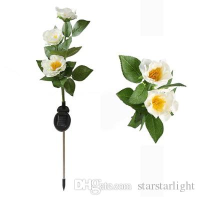 All'ingrosso-2016 di alta qualità Outdoor Solar Powered LED Light Rose Flower Lamp per Yard Garden Path Way Paesaggio Solar Night Path Lamps