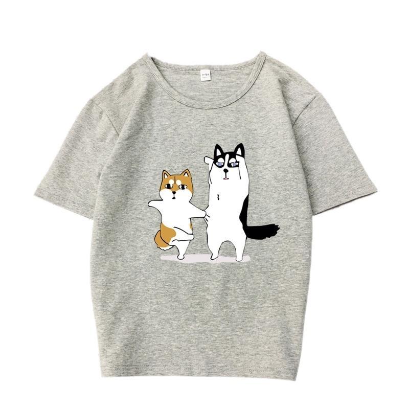 31d141c4b7 Short Sleeves O-neck Summer Tops Female Cartoon Dog Printed Korean Style  Fashion Women T shirt Casual Loose Harajuku T-shirts D19011601