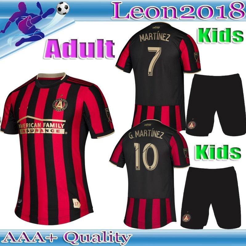 c8e92dec88e Adult Kids Kits 2019 2020 MLS Atlanta United FC Jersey G.MARTINEZ MARTINEZ  Home Soccer Jerseys 19 20 Youth VILLALBA BARCO Football Shirts UK 2019 From  ...