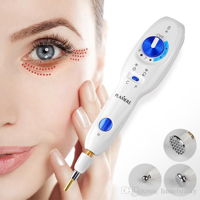 Plamere Fibroblast plasma pen with 20 bending needles free eyelid lift wrinkle Skin lifting tightening anti-wrinkle mole remover machine