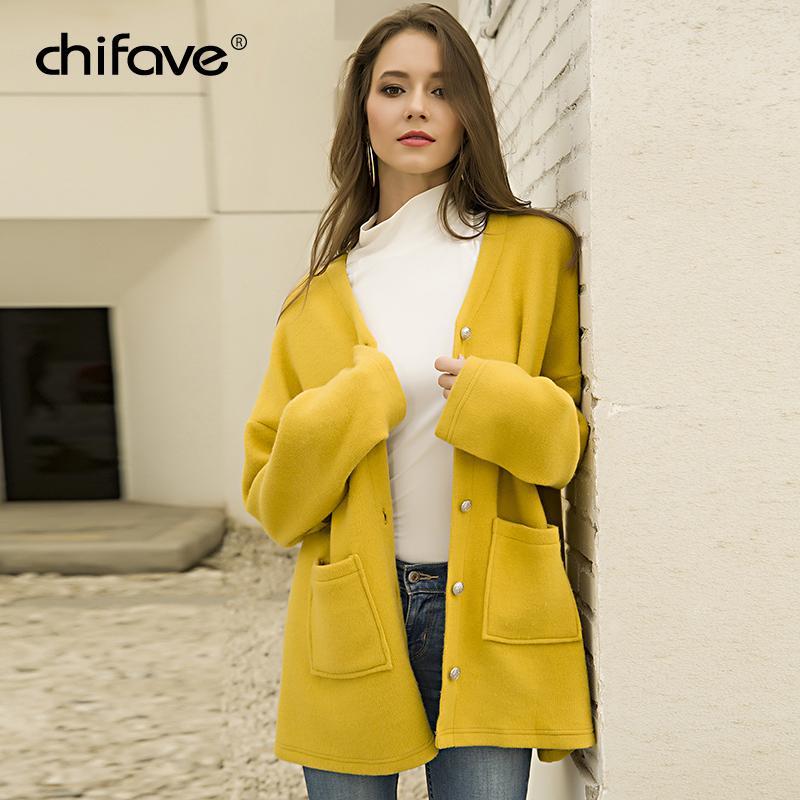 1392a339fc 2018 Cardigan di lana casual casual donna inverno femminile Streetwear  maglione di lana lavorato a maglia Cappotto maglione da donna Top femminile  ...