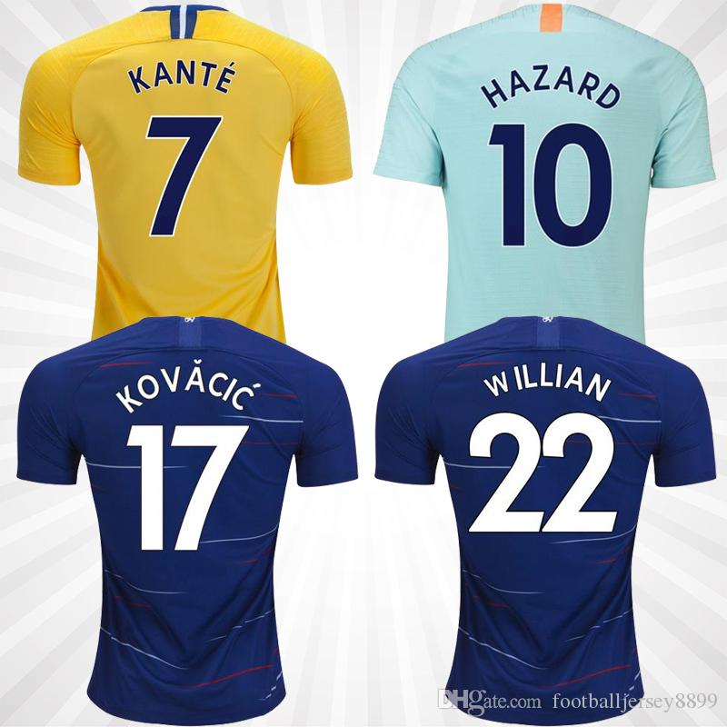 the latest 9e88c a6ffd S-3XL 18 19 home soccer jersey JORGINHO HAZARD GIROUD MORATA football shirt  KOVACIC Camiseta WILLIAN DAVID LUIZ 2018 2019 BARKLEY maillot
