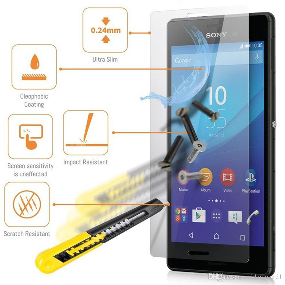 For Sony Xperia XZ1 Tempered Glass Screen Protector For Sony XZ4 Compact L2  L3 XA2 Ultra XA2 XA1 For Oneplus Google Protective Guard Film