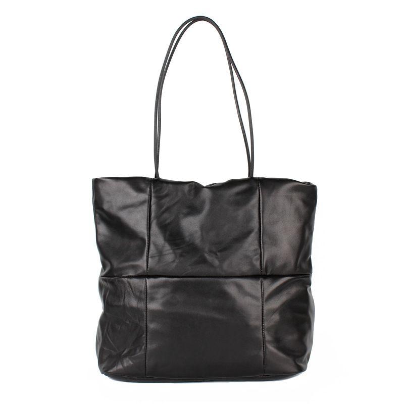 Soft Real Genuine Leather Women S Handbag Ladies Single Shoulder Bags Purse  Hobo Female Large Luxury Sheepskin Black Totes Leather Purses Cheap Designer  ... 409fbd704bd90