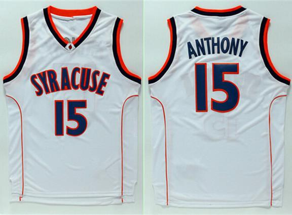 Carmelo Anthony  15 Syracuse Orangemen College Men Top Jersey XS-6XL Vest  Jerseys Baseball Cheap Basketball Jersey Custom Vest Jerseys Cheap Jerseys  Online ... b3c3d4bde
