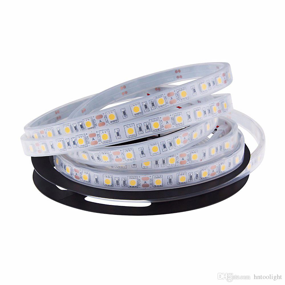 LED Strips Lights Blue White Warm White Multicolor RGB IP68 in The Water  Fish Tank Lighting 5M Swimming Pool Light Strip DC12V