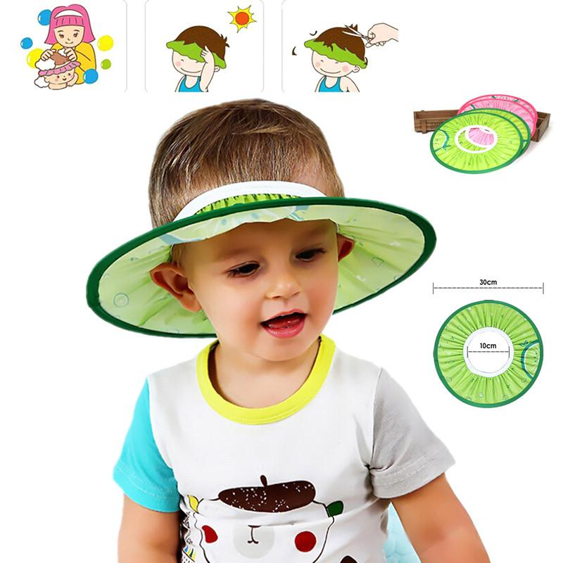 781f404e40 2019 Baby Shower Cap Children Shampoo Bath Protect Wash Hair Shield Hat  Waterproof Soft And Safe Toddler Kids Caps Baby Hat From Fashion09