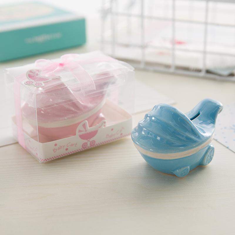 Großhandel 10 Stücke Keramik Kinderwagen Geld Boxen Mit Pvc Box