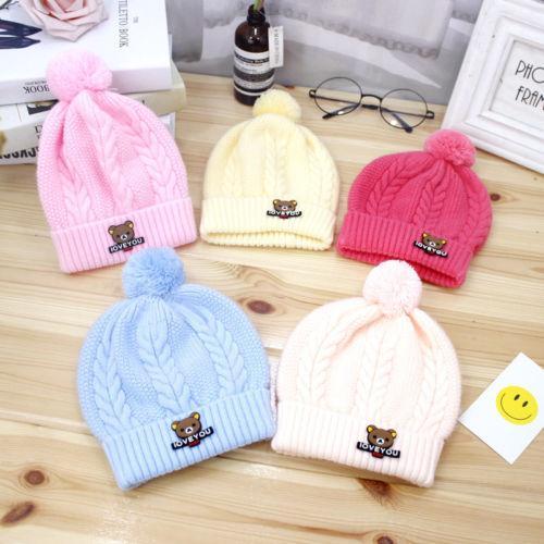 3fb63e2a431 2019 Newborn Kid Baby Boy Girl Pom Hat Winter Warm Crochet Knit ...