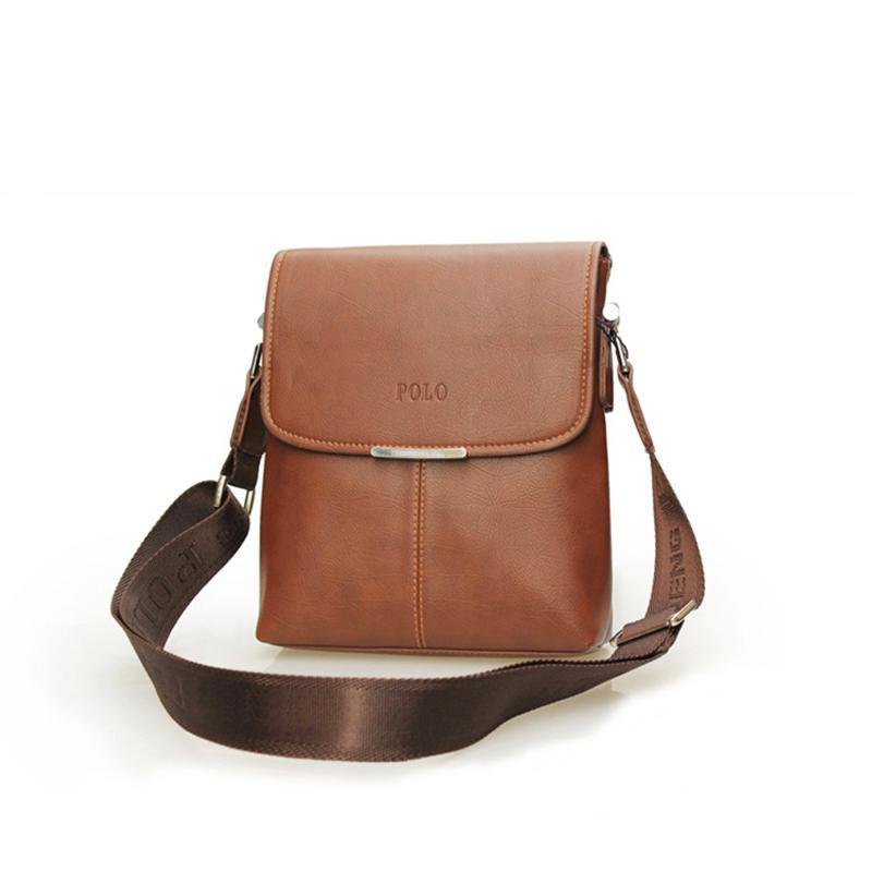 694bd07d7ef2 Mens Designer Messenger Bag Business Shoulder Bag PU Leather Satchel Purse  Crossbody Bags Laptop Office Bag (Black Brown)