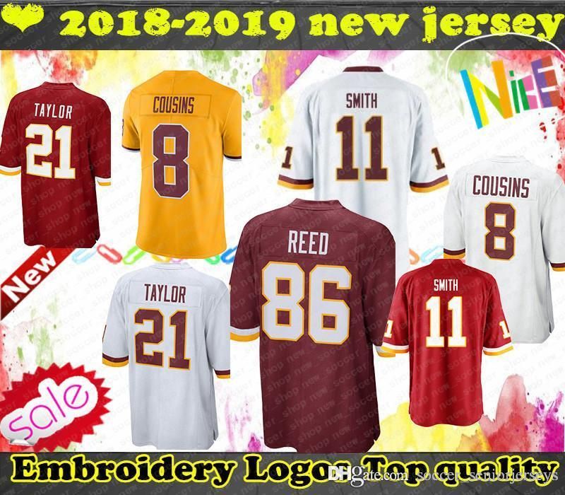 online store a4efd 3d80a Washington Sean 21 Taylor Jersey Redskins 29 Guice 91 Kerrigan 26 Peterson  11 Smith 8 Cousins 86 Reed Mens Jerseys