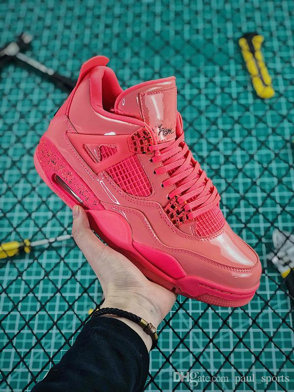 fe79593afe0d70 Compre AAA + Calidad Jumpman IV 4 NRG Energy Pink Hot Punch Singles Day Red  Basketball Shoes 4s Hombres Mujeres Zapatillas De Deporte De Entrenamiento  ...