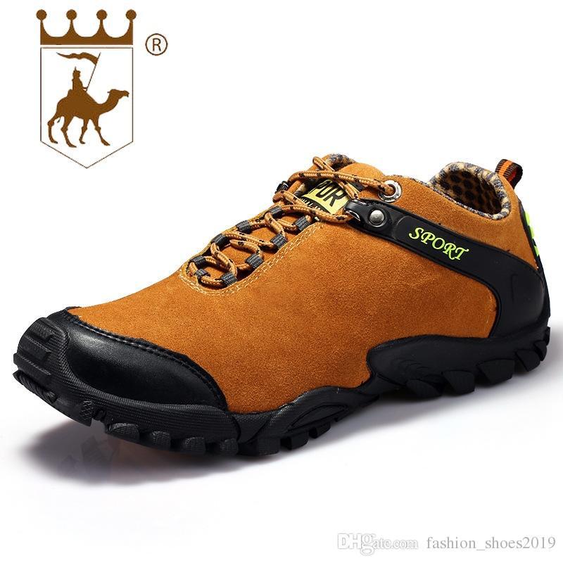 cf7de63d707 Compre BACKCAMEL Otoño Invierno Zapatos Para Hombre A Prueba De Agua  Deporte Casual Calzado Para Caminar Cuero Transpirable Exterior Vulcanize  Shoes ...