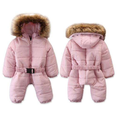 8c9312d6f320 Newest Toddler Baby Boy Girl Winter Romper Jacket Hooded Jumpsuit Thick  Down Coat Outwear Outfits Hot Sale Clothes 0-3Y Down   Parkas Cheap Down    Parkas ...