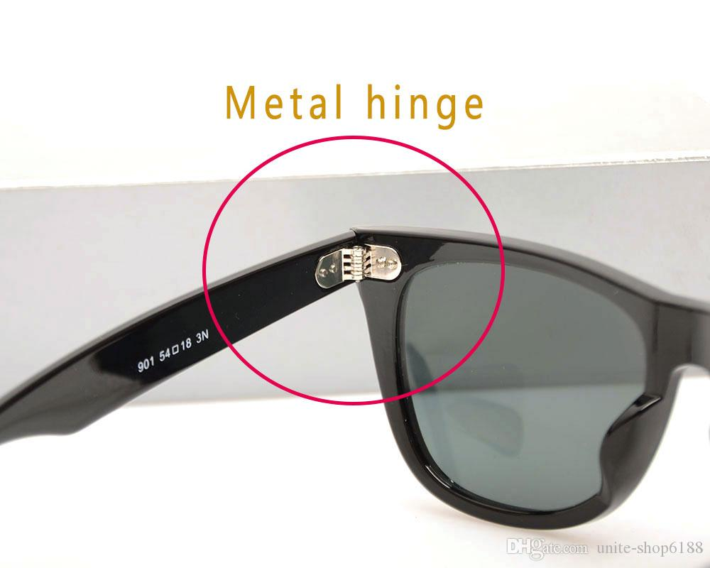 High Quality Glass Lens for Brand Designer Sun glasses Classic women sunglasses Plank Sun glasses ray fashion man sunglasses with cases boxs