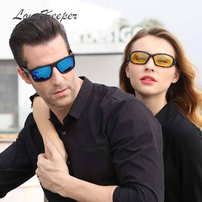c7b35de19a Compre LongKeeper HD Gafas De Sol Polarizadas Mujer Espejo Ovalado De  Conducción Gafas De Sol De Los Hombres De Moda Visión Nocturna Gafas De Sol  1004/1820 ...