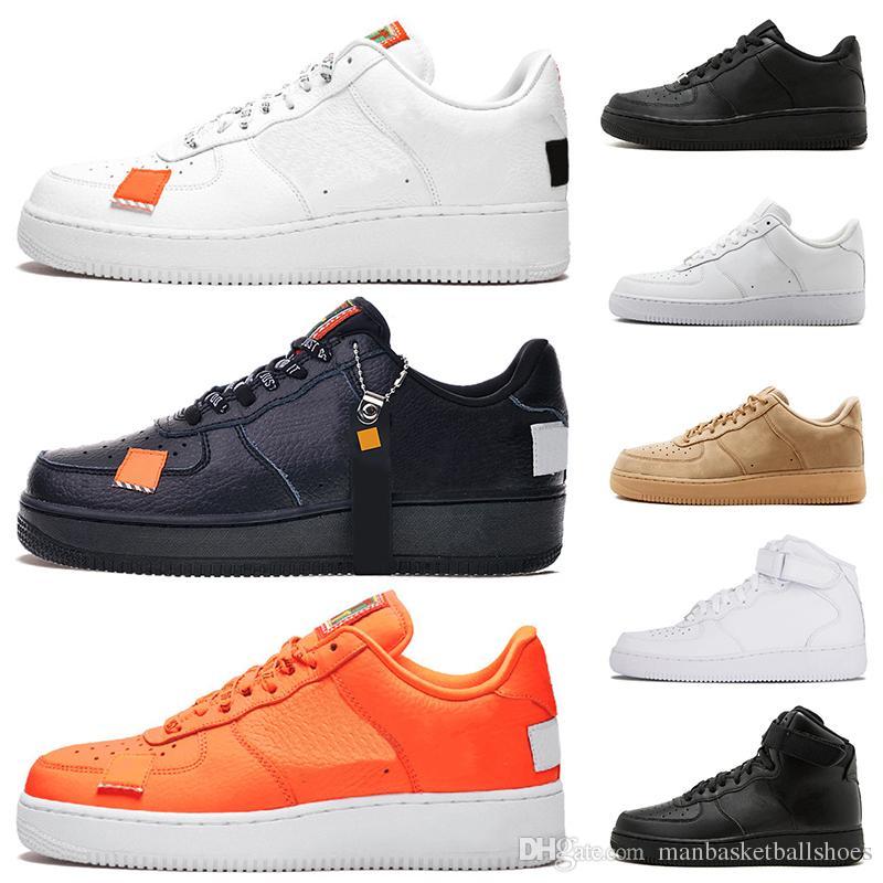 42313ffe73 Acheter Nike Air Force 1 AF1 One 1 Dunk Casual Chaussures Pour Hommes Noir  Blanc Hommes Femmes Baskets Planche À Roulettes Skateboard High High Cut  Wheat ...