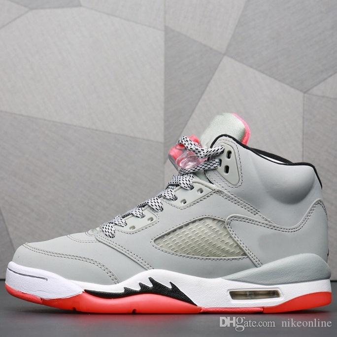 best website 8d903 11190 Cheap womens retro 5s basketball shoes aj5 Wolf Grey Lava light aqua blue  white j5 boys girls youth kids jumpman v sneakers tennis with box