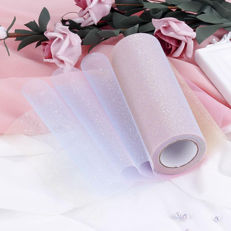 15cm * 10 yard flicker yarn for wedding home party stage decoration iridescence gauze DIY grenadine dress