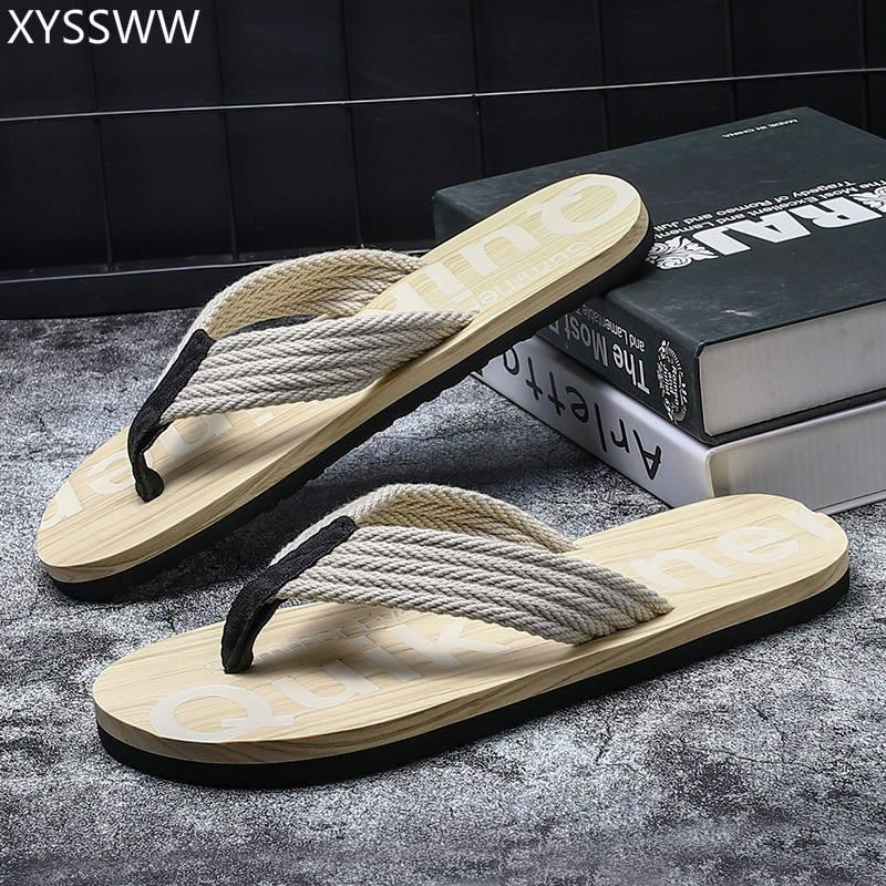 f4f4f253b 2019 Summer New Style Men Flip Flops Comfortable Beach Sandals Shoes For Men  Male Slippers Casual Shoes Plus Size 45 Moccasins For Men Shoe Sale From ...