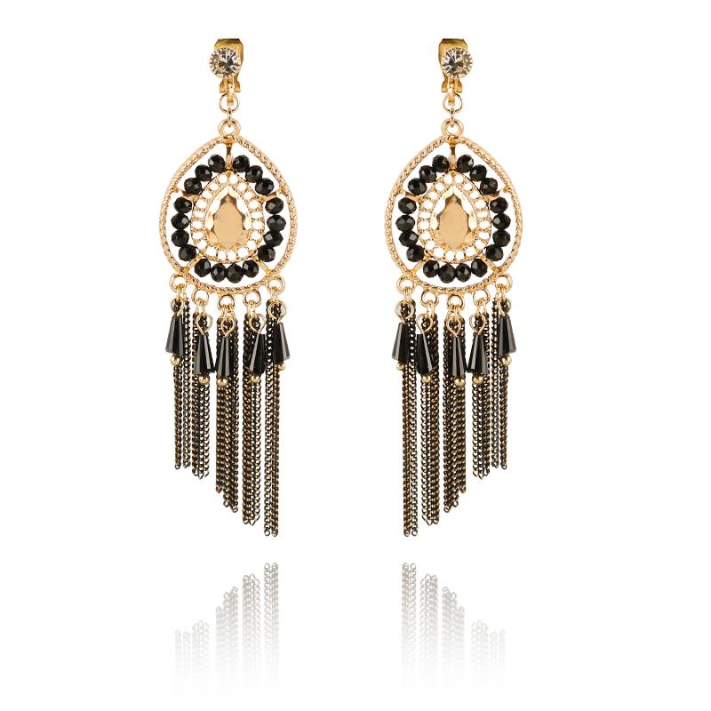 465500edc 2019 New Chain Tassel Long Dangle Clip On Earrings Without Piercing Gold  Color Maxi Hanging Drop Ear Clips For Women Bohemian Jewelry From  Kuchairly, ...