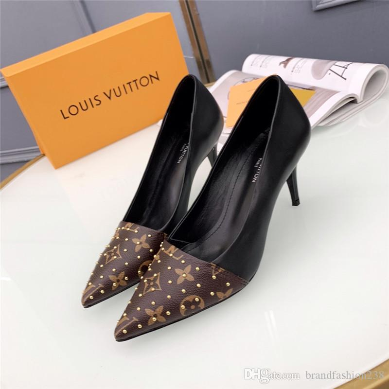 2018 brand fashion luxury designer women shoes high heels designer high heels women dress shoes superstar women pumps with box