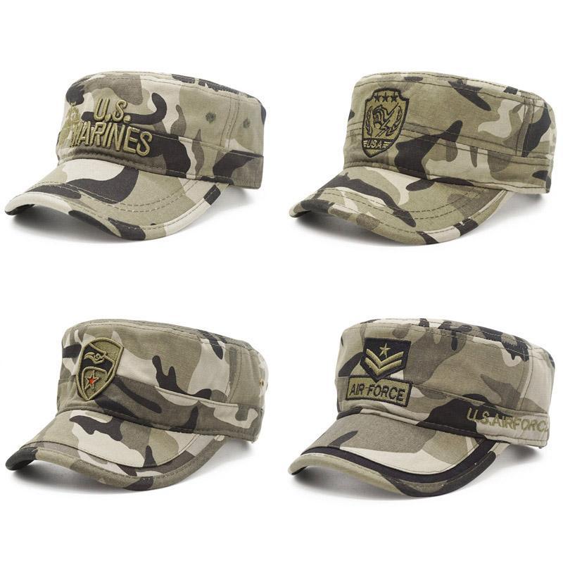 d23f6ab0d 2019 Camouflage Baseball Cap Men/Tactical US Army/Marines/Navy/Cap Trucker  Flat Caps Men Baseball Camo Cap Bones Snapback Gorras