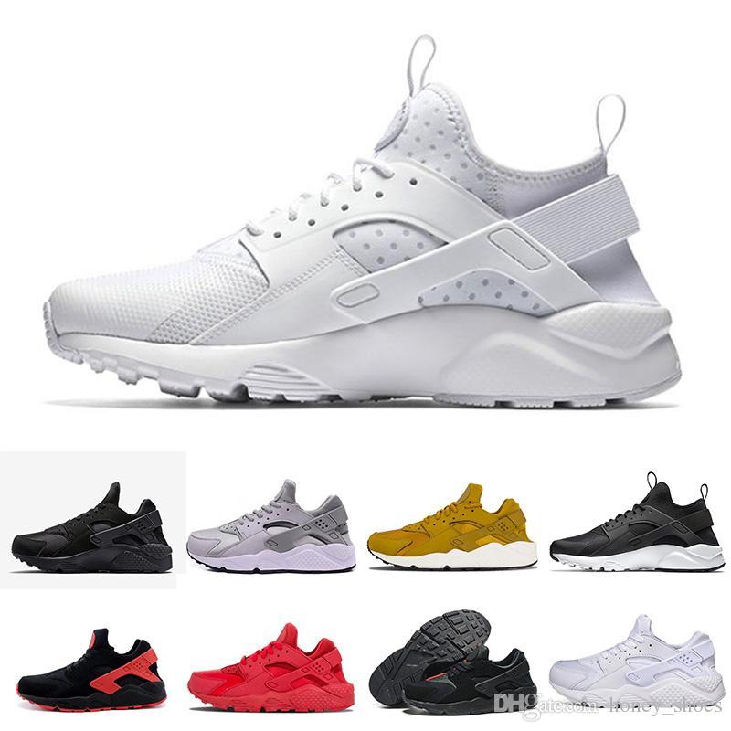 bfd385750af4 Acheter 2018 New Huarache I Chaussures De Course Pour Homme Femmes Blancs  Noir Baskets Triple Huaraches 1 De $104.53 Du Honey_shoes   DHgate.Com
