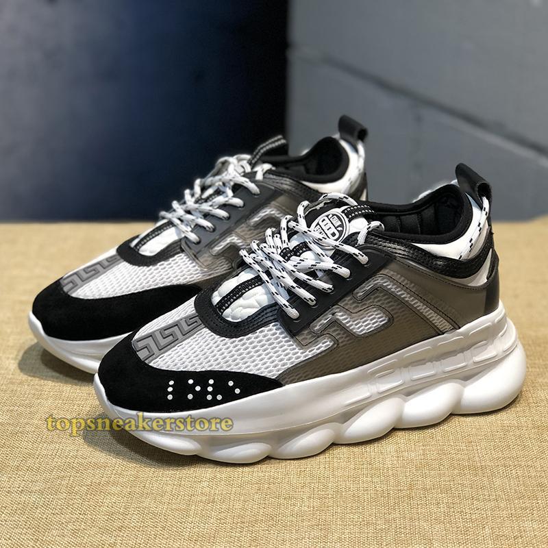 2019 Chain Reaction Luxury Designer Shoes Men Women Sneakers Snow Leopard Black White Mesh Rubber Leather fashion women Casual shoes