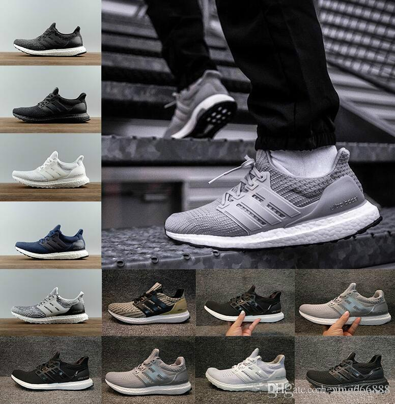925290197a491 New2018 Ultra Boost Running Shoes 4.0 Triple White Black Grey Men Women Ultraboost  3.0 Blue Oreo Casual Shoes Sports Sneakers 36 45 Silver Shoes Casual ...